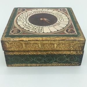 Beautiful vintage box made in Italy 24 k gold
